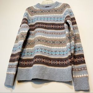 J. Crew | Multicolored Lamb's Wool Sweater | M